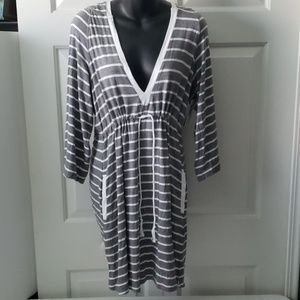 Kenneth Cole -Hoodie Beach Cover- Up (Large) NWT
